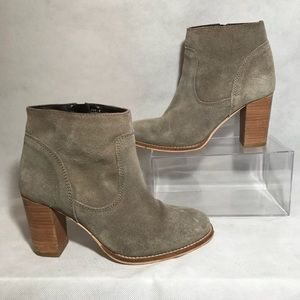 ASOS Suede Leather Ankle Boots Sand Color 7 / 5 UK